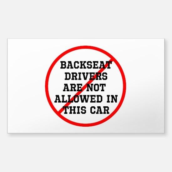 Backseat Driver Sticker (Rectangle)