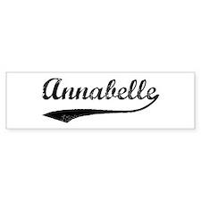 Vintage: Annabelle Bumper Bumper Sticker
