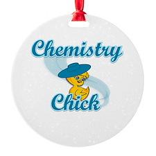 Chemistry Chick #3 Round Ornament