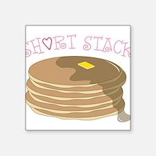 "Short Stack Square Sticker 3"" x 3"""