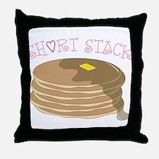 Short Stack Throw Pillow