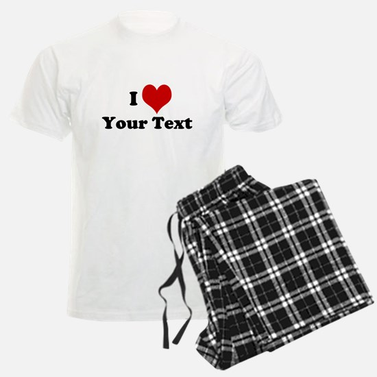 Customized I Love Heart Pajamas