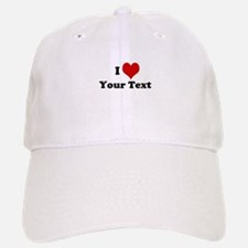 Customized I Love Heart Baseball Baseball Cap