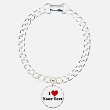 Customized I Love Heart Bracelet