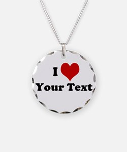 Customized I Love Heart Necklace