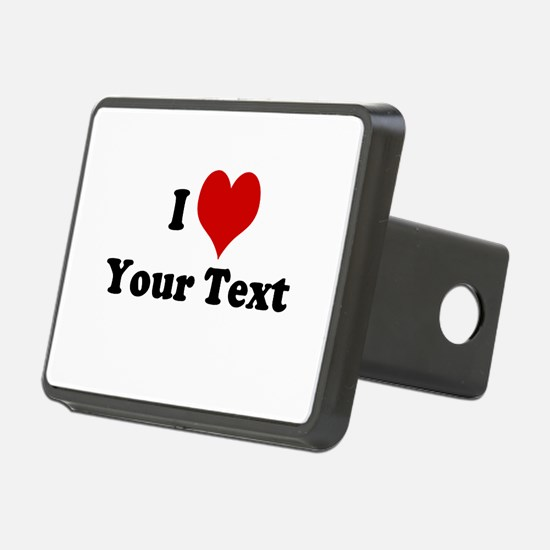 Customized I Love Heart Hitch Cover