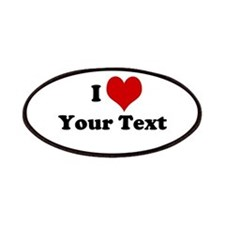 Customized I Love Heart Patches