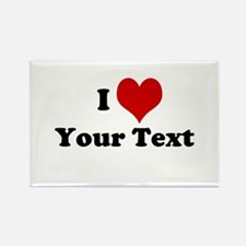 Customized I Love Heart Rectangle Magnet (10 pack)