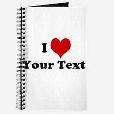Customized I Love Heart Journal