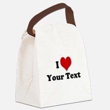 Customized I Love Heart Canvas Lunch Bag