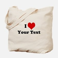 Customized I Love Heart Tote Bag