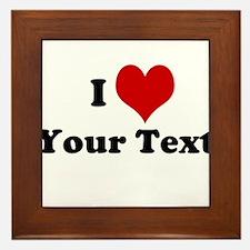 Customized I Love Heart Framed Tile