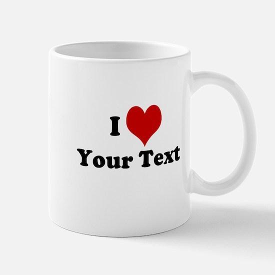 Customized I Love Heart Mug