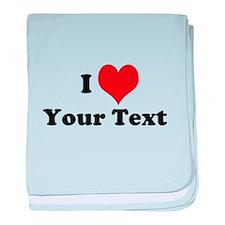 Customized I Love Heart baby blanket