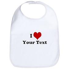 Customized I Love Heart Bib