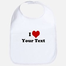 Customized I Love Heart Bib
