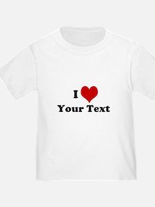 Customized I Love Heart T