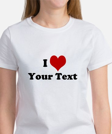 Customized I Love Heart Women's T-Shirt