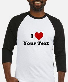 Customized I Love Heart Baseball Jersey