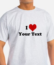 Customized I Love Heart T-Shirt
