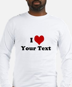 Customized I Love Heart Long Sleeve T-Shirt