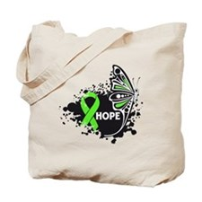 Hope Lymphoma Butterfly Tote Bag
