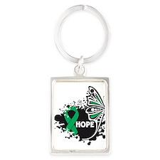 Hope Liver Cancer Portrait Keychain
