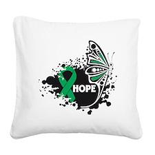 Hope Liver Cancer Square Canvas Pillow