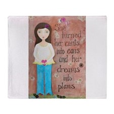 Dreams into Plans Throw Blanket