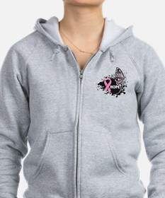 Hope Breast Cancer Zip Hoodie