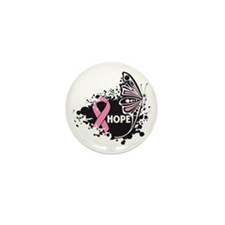 Hope Breast Cancer Mini Button (10 pack)