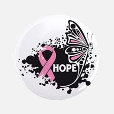"""Hope Breast Cancer 3.5"""" Button"""