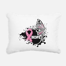 Hope Breast Cancer Rectangular Canvas Pillow
