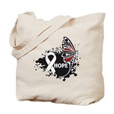 Hope Bone Cancer Butterfly Tote Bag
