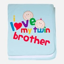 Love My Twin baby blanket