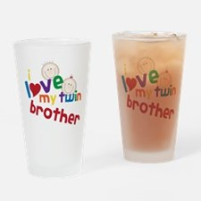 Love My Twin Drinking Glass