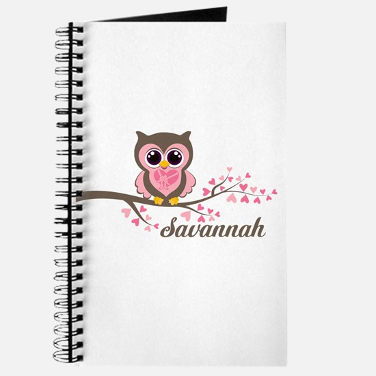 Custom Valentines Day owl Journal