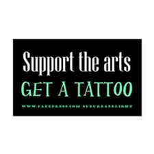 """""""Support Arts Tattoo"""" Rectangle Car Magnet"""