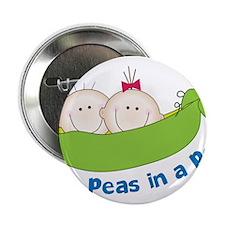 """Two Peas 2.25"""" Button"""