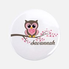 "Custom Valentines Day owl 3.5"" Button"