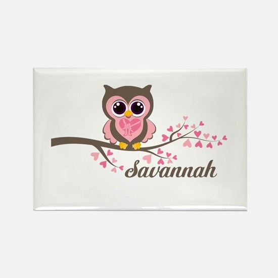 Custom Valentines Day owl Rectangle Magnet