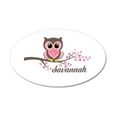 Custom Valentines Day owl Wall Decal