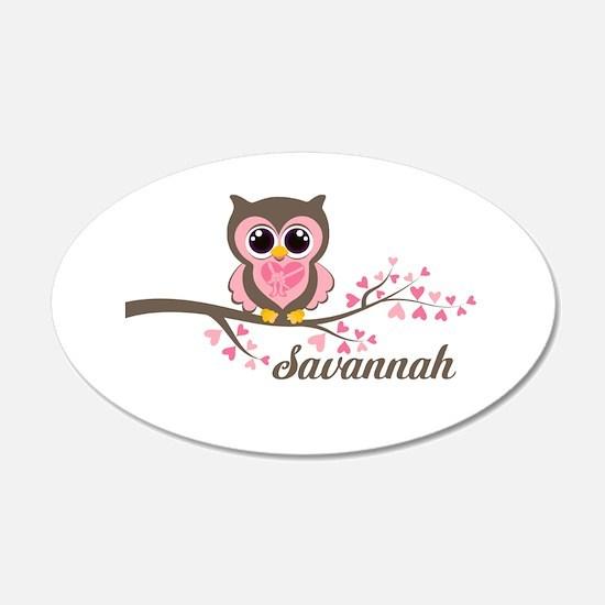 Custom Valentines Day owl Wall Sticker