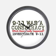 9-11 Was a Conspiracy! Wall Clock