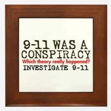 9-11 Was a Conspiracy! Framed Tile