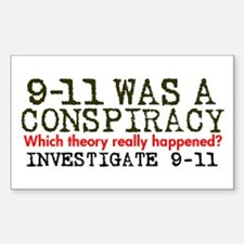 9-11 Was a Conspiracy! Rectangle Decal
