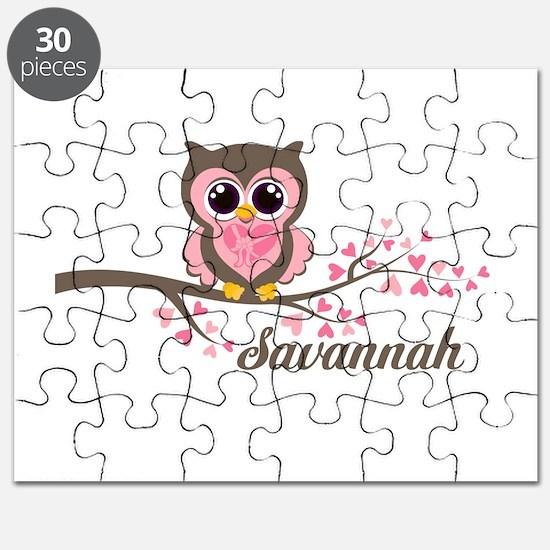 Custom Valentines Day owl Puzzle