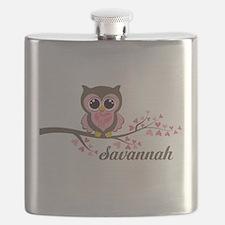 Custom Valentines Day owl Flask