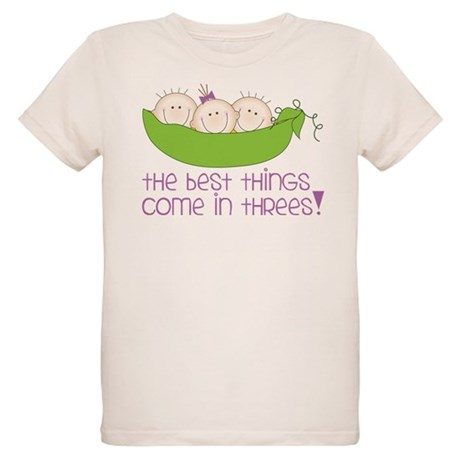 Come In Threes Organic Kids T-Shirt