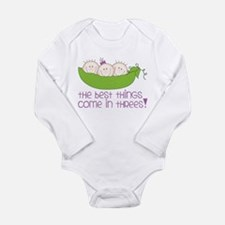 Come In Threes Long Sleeve Infant Bodysuit